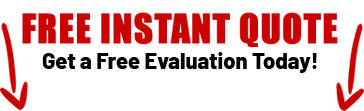 A red banner for a free instant quote through the contact form.